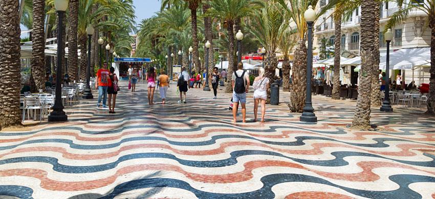 Explanada de España, il lungomare di Alicante
