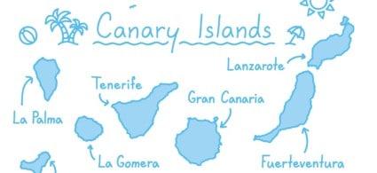 Mappa delle Canarie