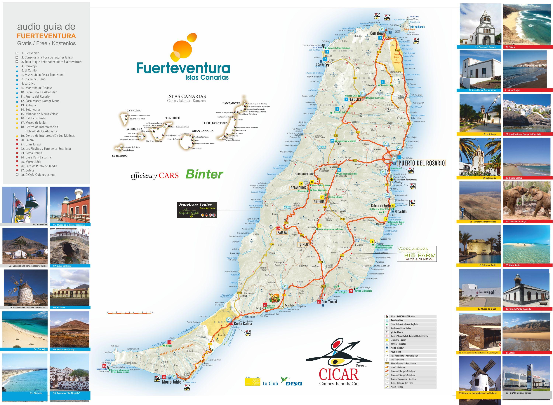 Cartina Spagna Fuerteventura.Mappa Delle Canarie Cartina Interattiva E Download Mappe In Pdf Spagna Info