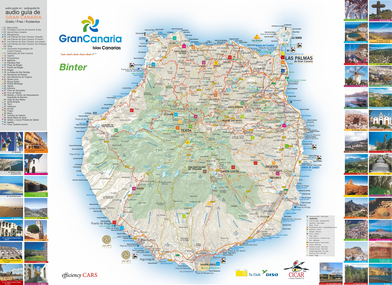 Spagna E Isole Canarie Cartina Geografica.Mappa Delle Canarie Cartina Interattiva E Download Mappe In Pdf Spagna Info
