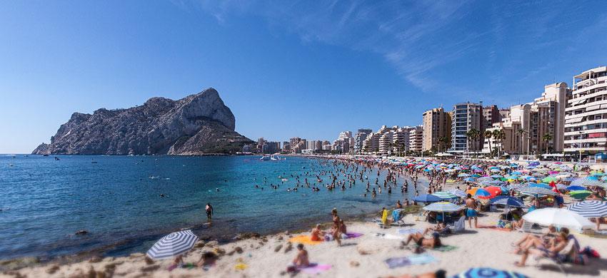 Playa de la Fossa a Calp